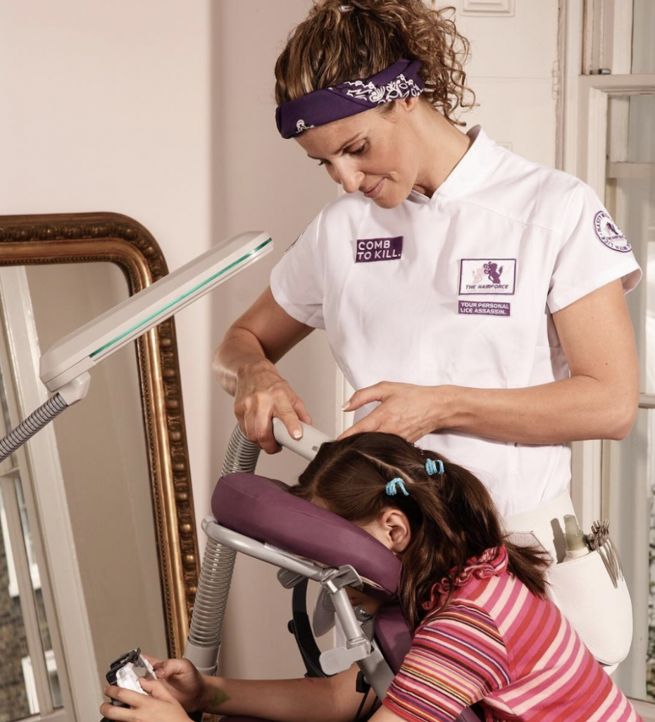 Treating head lice with specialist equipment